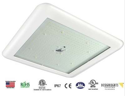 LED Gas / Service Station Canopy Fixtures