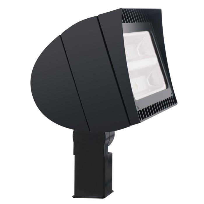 Main Image RAB Lighting FXLED105SFY/PCS2 105 Watt High Output LED Floodlight Fixture Slip Fitter Mount Swivel Photocell 277V 3000K