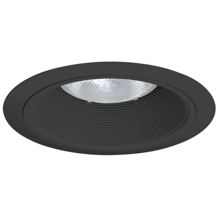 Juno Lighting 24 BBL 6-Inch Baffle Trim, Black Baffle with Black Ring