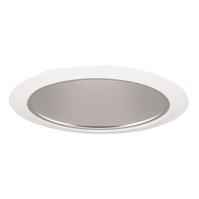 Juno Lighting 27 HZWH 6 Inch Tapered Cone, Haze Cone with White Trim Ring