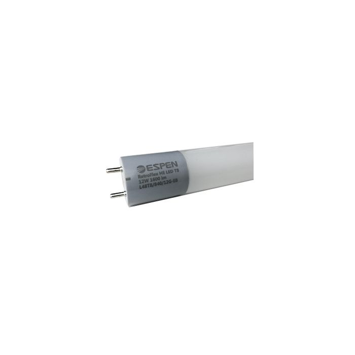 ESPEN Technology L24T8/840/8G-EB 8 Watt 24 Inch 2 Foot Ballast Compatible Retrofit LED T8 Glass Tube Lamp 4000K