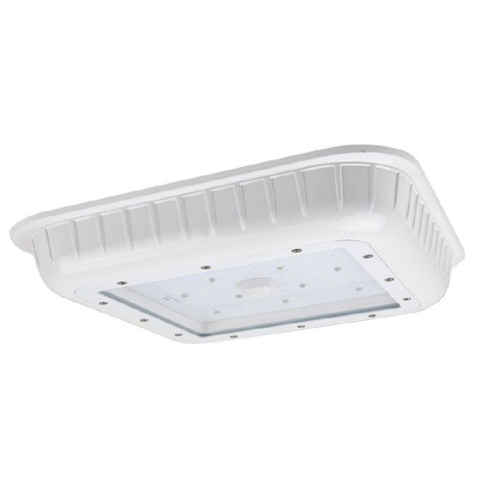 NaturaLED LED-FXGSC75/50K/WH DLC Listed 75 Watt LED Gas Station Canopy Fixture - Driver Box Included