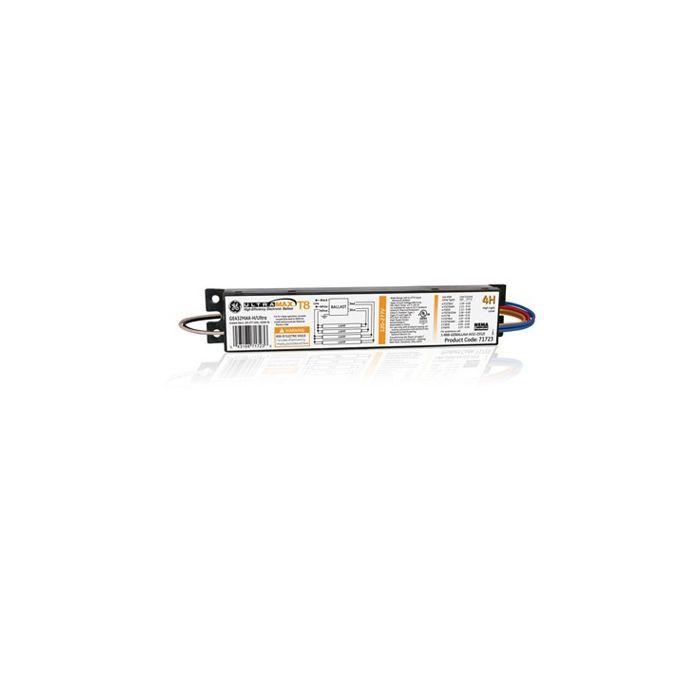 Image GE Lighting 67911 GE432MAX-G-H Electronic High Efficiency Multivolt Instant Start Ballast 4 or 3-F32T8 Fluorescent Lamps High  Ballast Factor