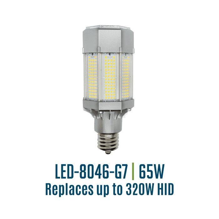 Light Efficient Design LED-8046M50-G7 65 Watt Post Top Site Wall Pack Retrofit Lamp 5000K EX39 Base