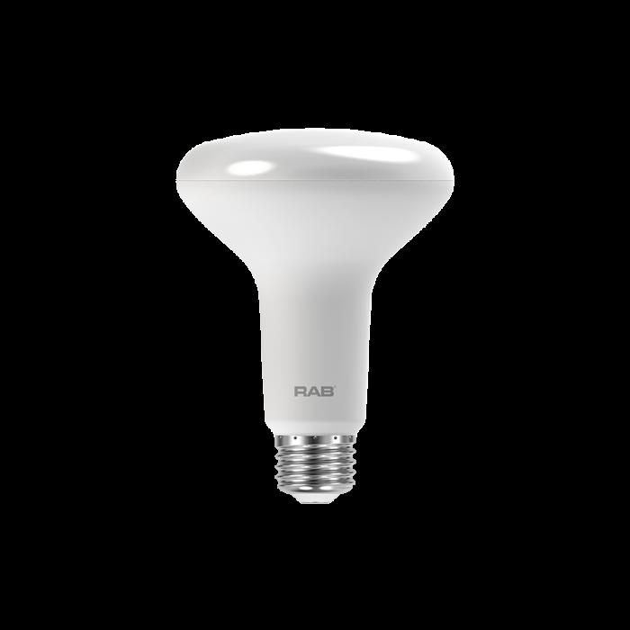 RAB Lighting BR30-10-9 10 Watt LED BR30 Reflector E26 Lamp 90CRI 120V Dimmable 65W Equivalent