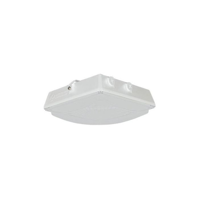 Lithonia Lighting CNY LED P1 40K MVOLT WH M2 DLC Premium Listed 35 Watt Contractor Select LED Canopy Light Fixture 4000K White Finish