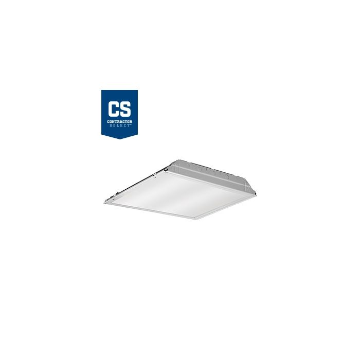 Lithonia Lighting 2GTL2 A12 120 LP840 35.4 Watt 2X2 Contractor Select LED Recessed Lay-In Troffer Fixture Dimmable 4000K