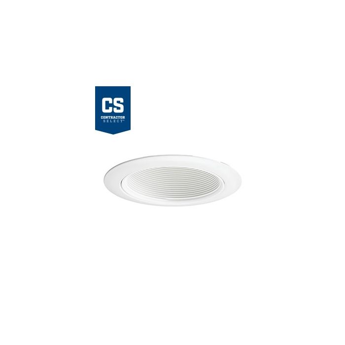 Juno Lighting 14 WWH 4-Inch Contractor Select Recessed Baffle Trim, White Baffle with White Trim