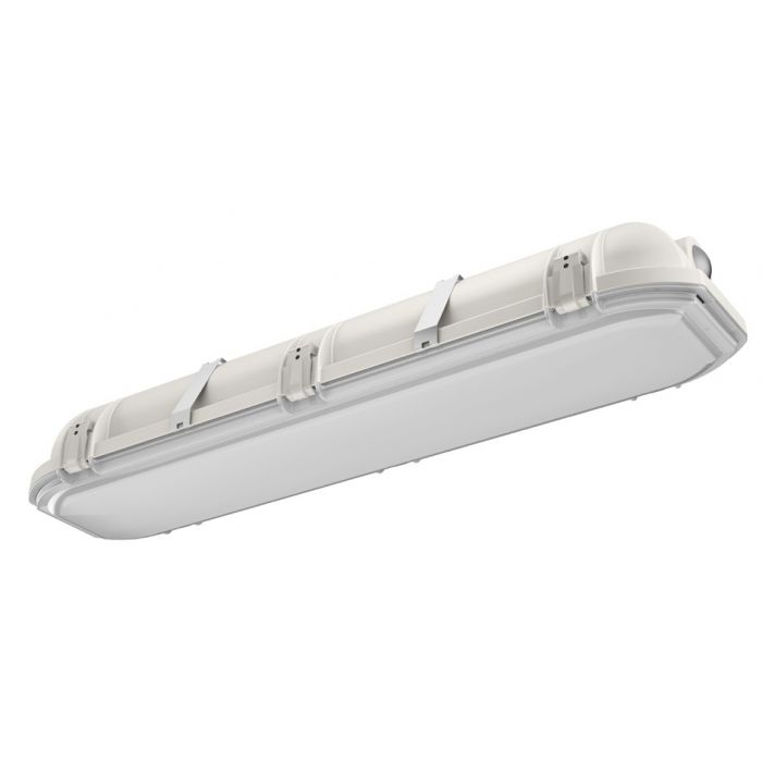 Main Image Lithonia Lighting DMW2-L24-3000LM-AFL-MD-MVOLT-GZ1 27 Watt Wet Location LED Vapor Tight Fixture with Frosted Acrylic Lens NSF Rated 120-277V