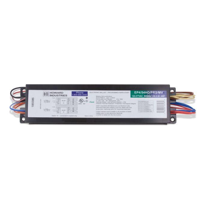 Main Image Howard Lighting EP4/54HO/PRS/MV 4 Lamp F54T5 High Output Program Rapid Start Electronic Ballast 120-277V