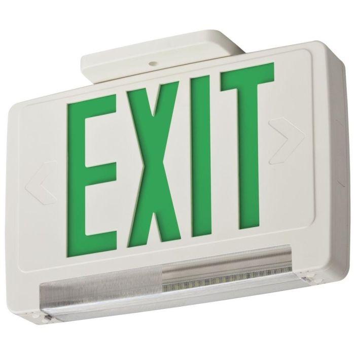 Lithonia Lighting ECBG LED M6 LED Exit and Emergency Light Bar Combo Fixture with Back Up Battery