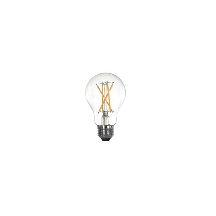 Maxlite EF8.5A19D927/JA8 Energy Star Rated 8.5 Watt LED Enclosed A19 Clear Glass Filament Lamp Dimmable 2700K 120V