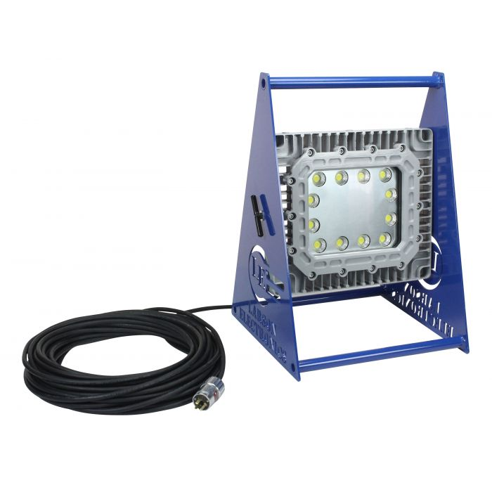 Main Image 150 Watt Class 1 Division 1 Portable Explosion Proof LED Light Fixture with Non-Spark Aluminum Base 120-277V 5000K