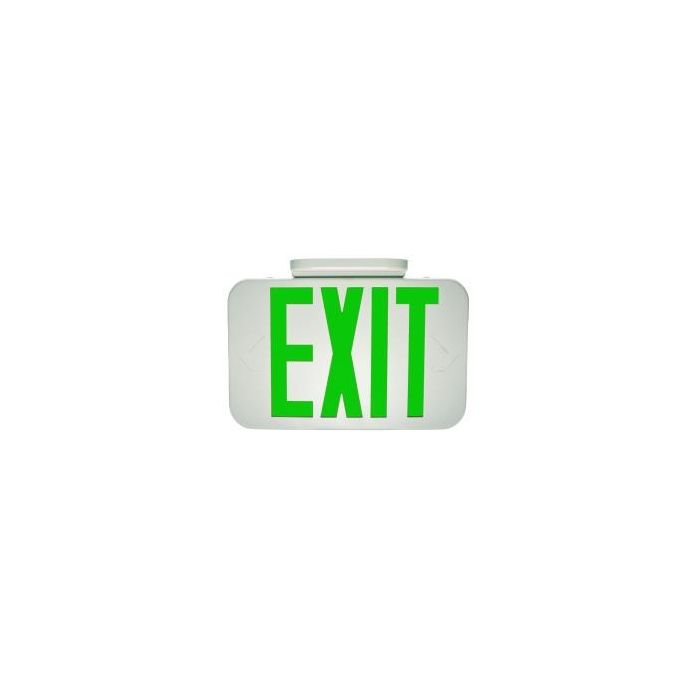 MaxLite EX-GW LED Exit Sign White Thermoplastic with Green Letters
