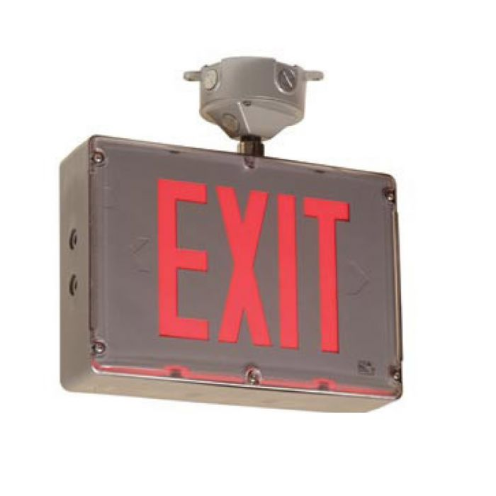 Main Image Mule Lighting SVX-NHZ-2 Hazardous Location Exit Sign with Battery Backup Double Face - Red or Green LEDs