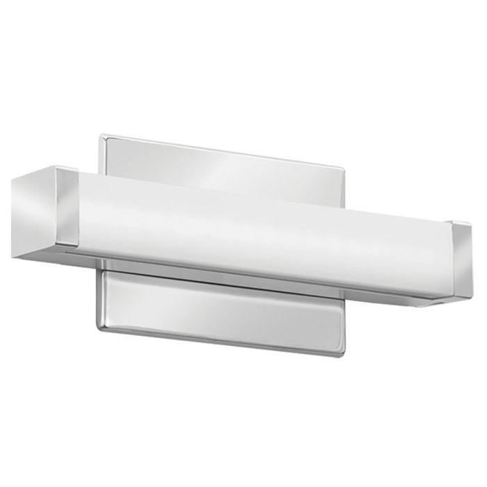 Chrome Lithonia Lighting FMVCSL-12IN 9.5 Watt 12 Inch 1ft Contemporary Square LED Vanity Light 120-277V 3000K