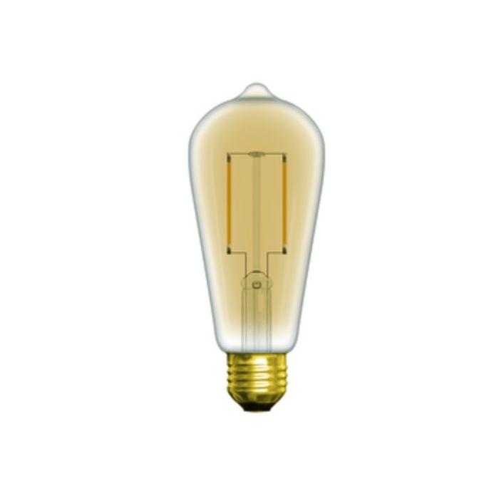 GE Lighting 76018LED3DST19-V 3 Watt ST19 LED Vintage Filament Deco Lamp E26 Base Dimmable 2500K