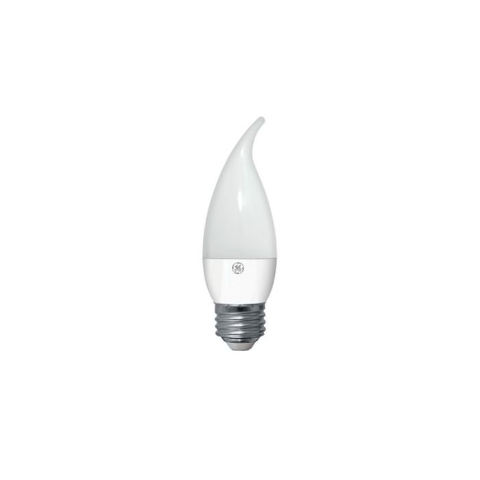 GE Lighting 92389 LED4DCAM-W3/827 4 Watt Screw-In LED Decorative White Candle Light Bulb E26 Base 2700K