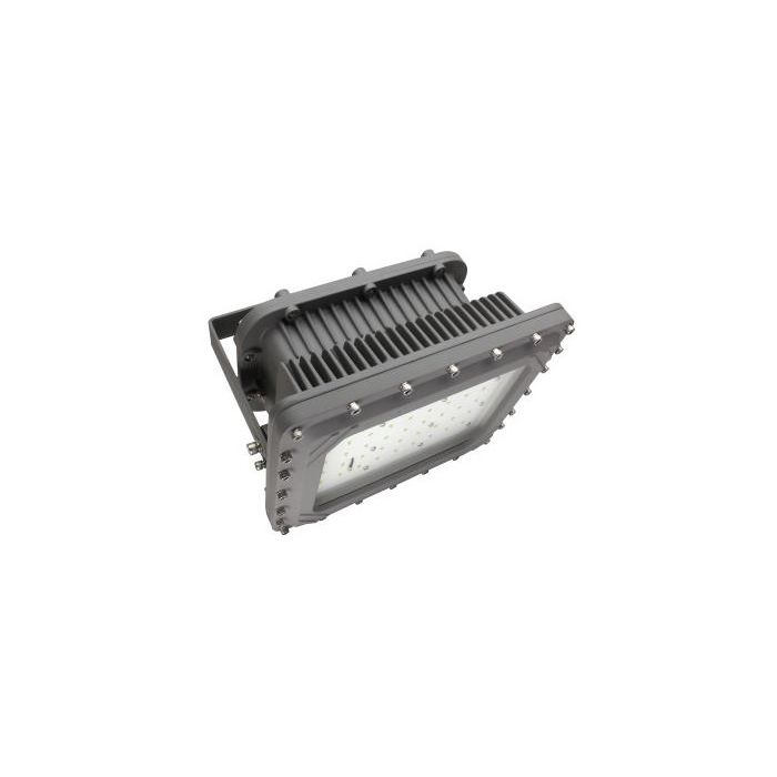 Maxlite HL-AR150HW-50G DLC Premium Listed 150 Watt Hazardous Location Flood Light Fixture 347-480V Wide Distribution 5000K Gray 400W MH Equivalent
