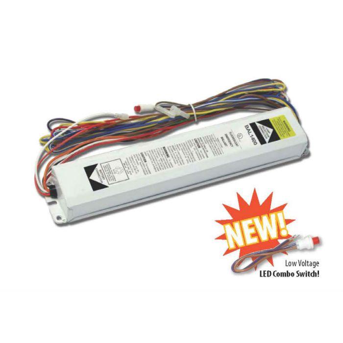 Howard Lighting BAL1400 2 Lamp Fluorescent Emergency Ballast 1100-1400 Lumen