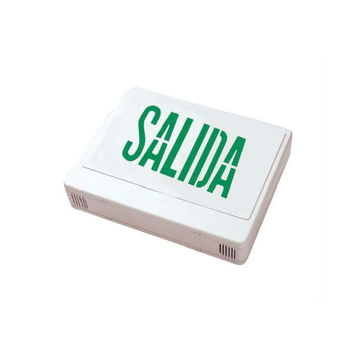 Howard Lighting HL0201B2GW-ESP LED Exit Sign in Spanish Green Letters Battery NiCad