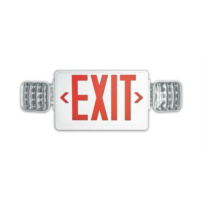 Howard Lighting HL03143RW HL0314 All LED Exit/Emergency Combo Red Letters Battery NiCd