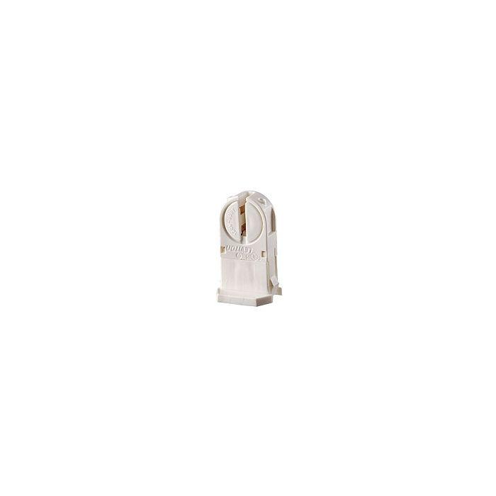 Leviton 13654-TWP T5 Slide-On Locking Socket Fluorescent Miniature Base Mini Bi-Pin Lamp Holder