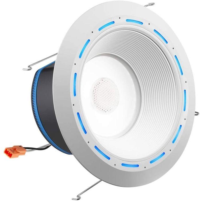 Juno Lighting J6AI DB 10LM TUWH 90CRI 120 WWH JBL ALXA 6 Inch LED Retrofit Smart Home Downlight with Speaker and Amazon Alexa - Baffle Trim
