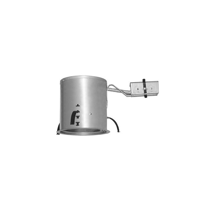 Juno Lighting IC23R LEDT24  6-Inch IC Rated Round Remodel Recessed Housing for Juno Basic Retrofits, Dimmable, 120V