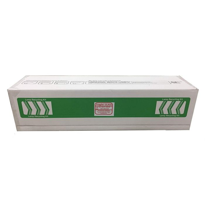 4' 4ft Lamp Recycling Kit for Fluorescent Lamp Recycle, STANDARD (Recycle Box Holds Up to 30 T12 or 71 T8 lamps)