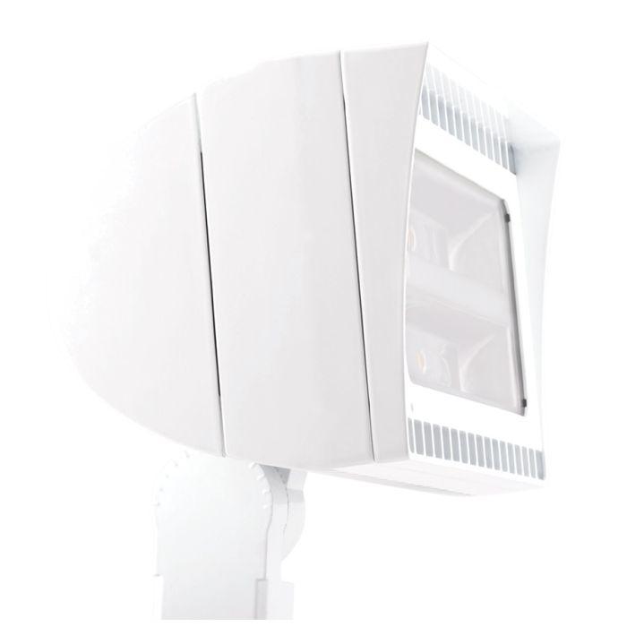 Main Image RAB Lighting FXLED105SFNW/480/PCS4 105 Watt High Output LED Floodlight Fixture White Finish Swivel Photocell 480V 4000K