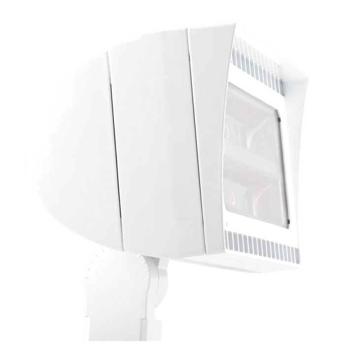 Main Image RAB Lighting FXLED105SFW/480/PCS4 105 Watt High Output LED Floodlight Fixture White Finish 480V Swivel Photocell 5000K
