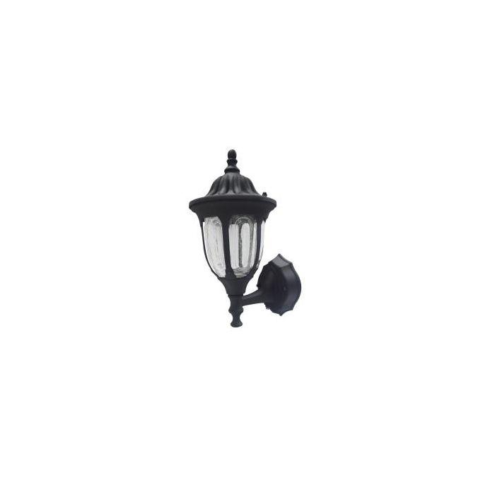 Maxlite ML4LS10MCLBK827 97868 10W Dusk to Dawn Outdoor LED Coach Lantern with Crackle Glass 120V