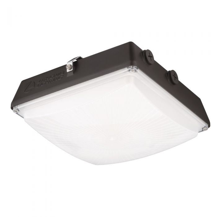 Lithonia Lighting CNY LED P2 DLC Premium Listed 52 Watt Contractor Select LED Canopy Light Fixture Dark Bronze Replaces 175W HID