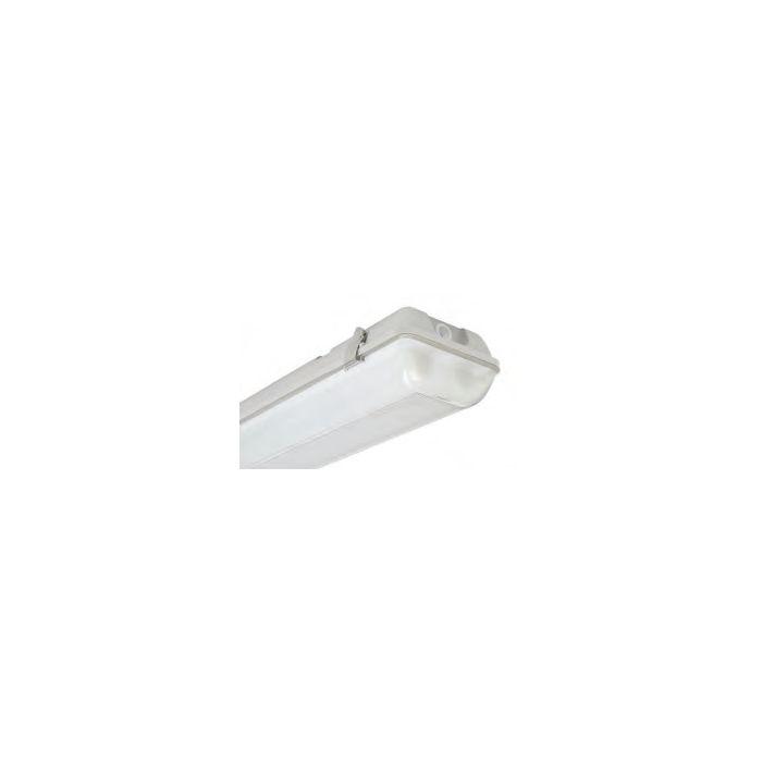 Louvers International 6 Lamp 8 Ft No Ballast Advantage Fluorescent Vapor Dust Water Proof Wet Location Fixture Image