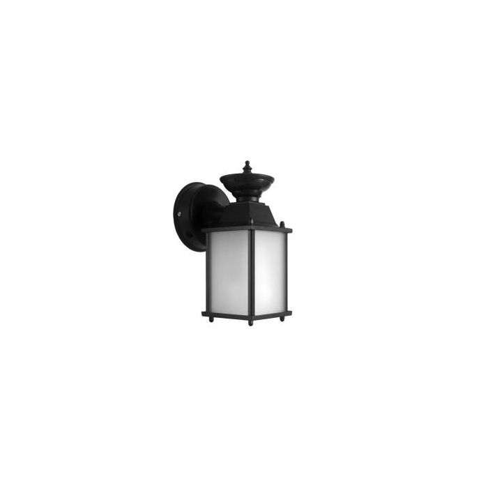 MaxLite ML4LE171RLBK27 Outdoor Small Lantern Wall Mounted Fixture with 17W LED Lamp 120V 2700K