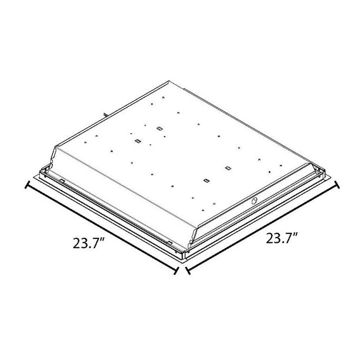 Maxlite MLSMKRT22D 71885 Surface Mount Kit for ECO-T 2x2 LED Recessed Troffer Product