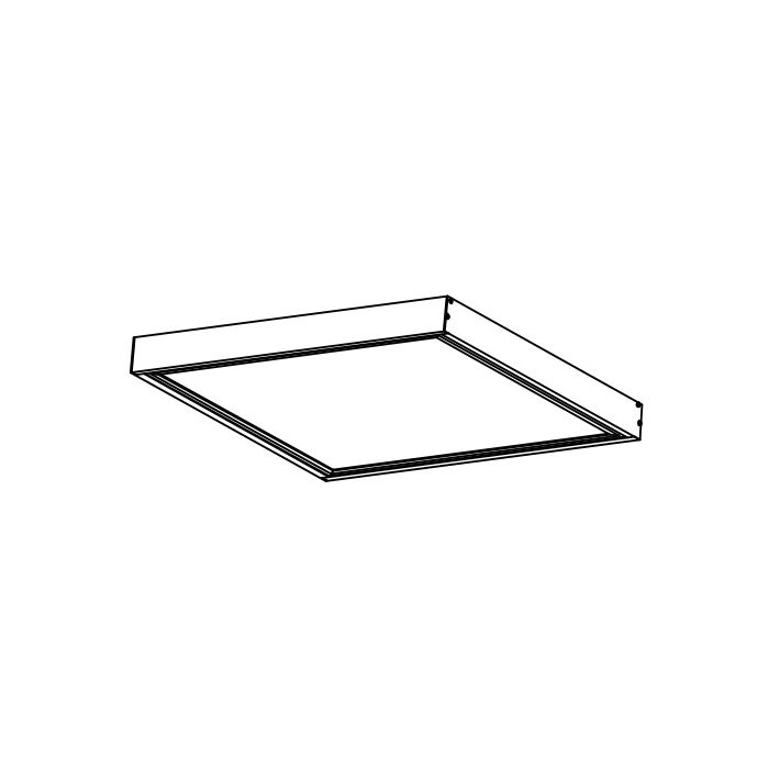 NaturaLED MT-1X4BOX 1x4 Surface Mount Kit for Flat Panel Fixtures