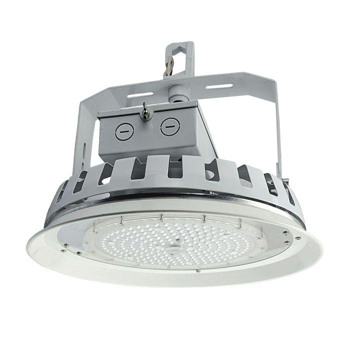 NaturaLED LED-FX16HBR100/90 DLC Premium Listed 100W LED Round High Bay Lighting Fixture Dimmable 120-277V