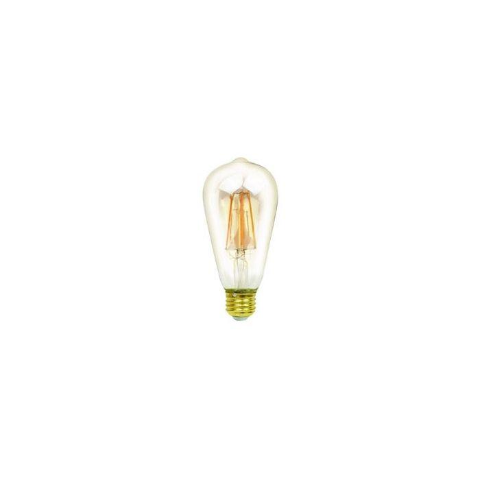 NaturaLED LED6.5ST19/FIL/45L/922 Energy Star Certified 6.5 Watt LED ST19 LED Filament Lamp 2200K Dimmable