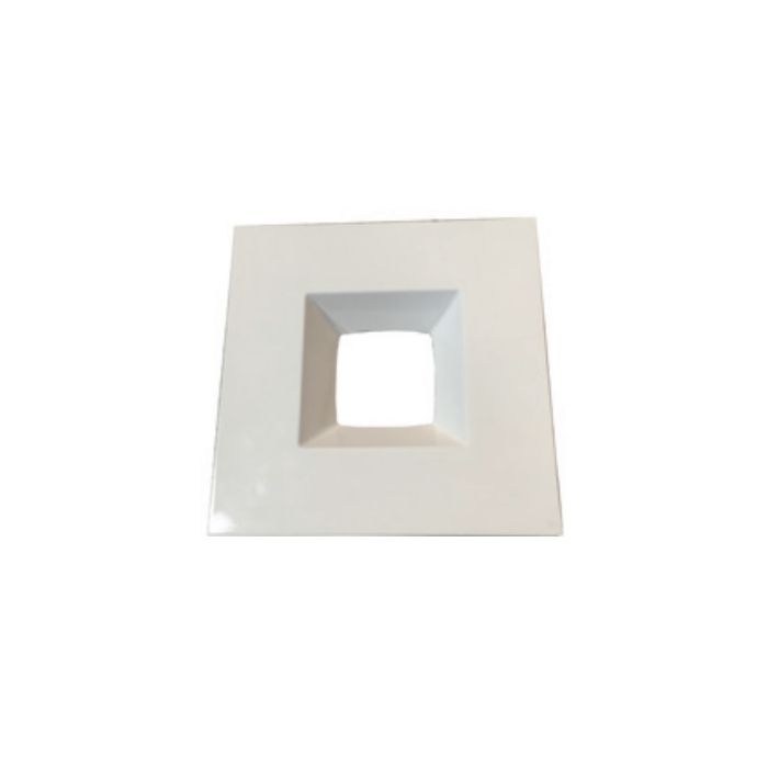 NaturaLED RTS-4RL9-WH 4-Inch White Square Recessed Trim Accessory for Downlight Fixture