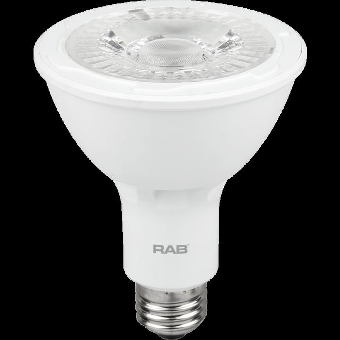 RAB Lighting PAR30L-11-9 Energy Star Rated 11 Watt LED PAR30L E26 Lamp 120V 90CRI Dimmable 75W Equivalent