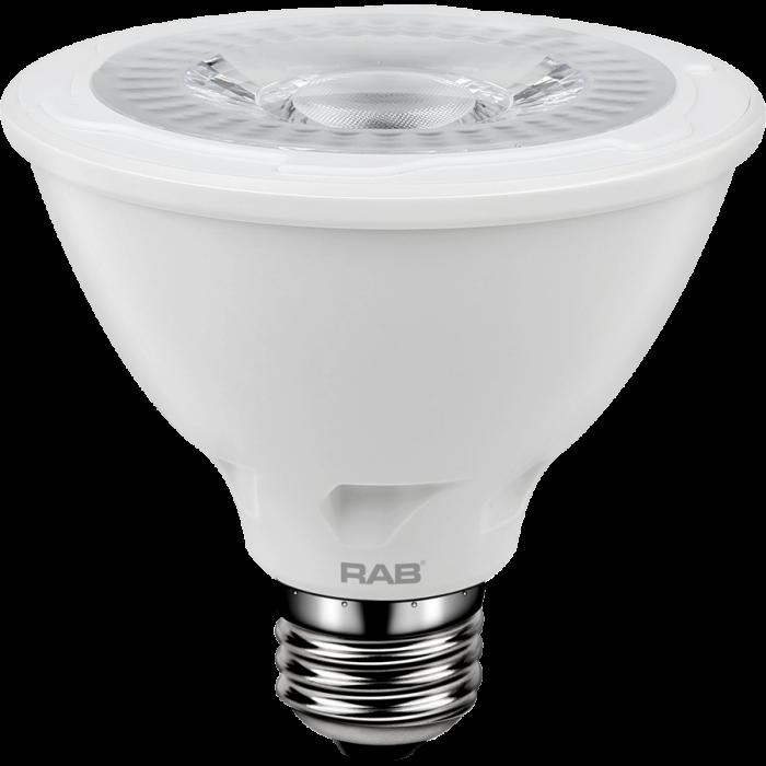 RAB Lighting PAR30S-11-9 Energy Star Rated 11 Watt LED PAR30S E26 Lamp 120V 90CRI Dimmable 75W Equivalent