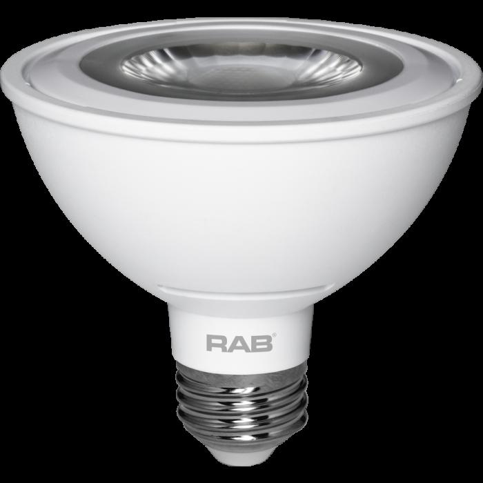 RAB Lighting PAR30S-11 Energy Star Rated 11 Watt LED PAR30S E26 Lamp 120V Dimmable 50W Equivalent