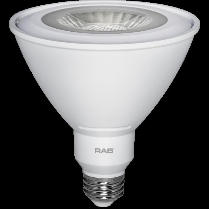 RAB Lighting PAR38-15-830-25D-DIM Energy Star Rated 15 Watt LED PAR38 E26 Lamp 120V Dimmable 3000K 100W Equivalent