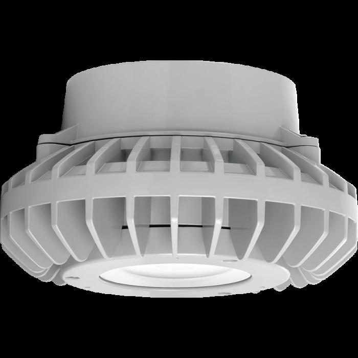 Flat Clear Lens RAB Lighting HAZPLED42 42W LED Pendant Mount Hazardous Location Fixture 5100K