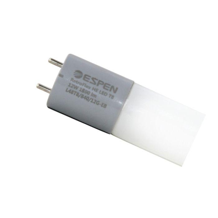 ESPEN Technology L36T8/840/10G-EB 10 Watt 36 Inch Ballast Compatible Retrofit LED T8 Glass Tube Lamp 4000K