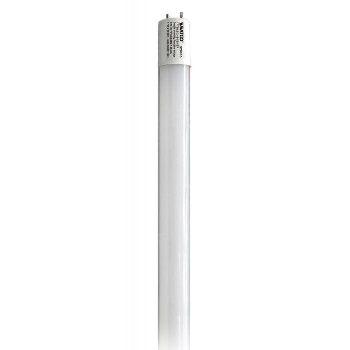 SATCO S29905 17 Watt DLC Qualified 4 Foot T8 LED Linear Tube Lamp Medium Bi-Pin Base Glass Tube  Direct Wire