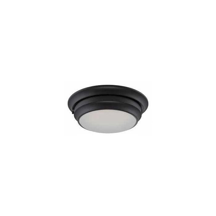 Satco Lighting 62-155 20 Watt Dash LED Flush Dome Light Fixture with Frosted Glass Aged Bronze Dimmable 3000k