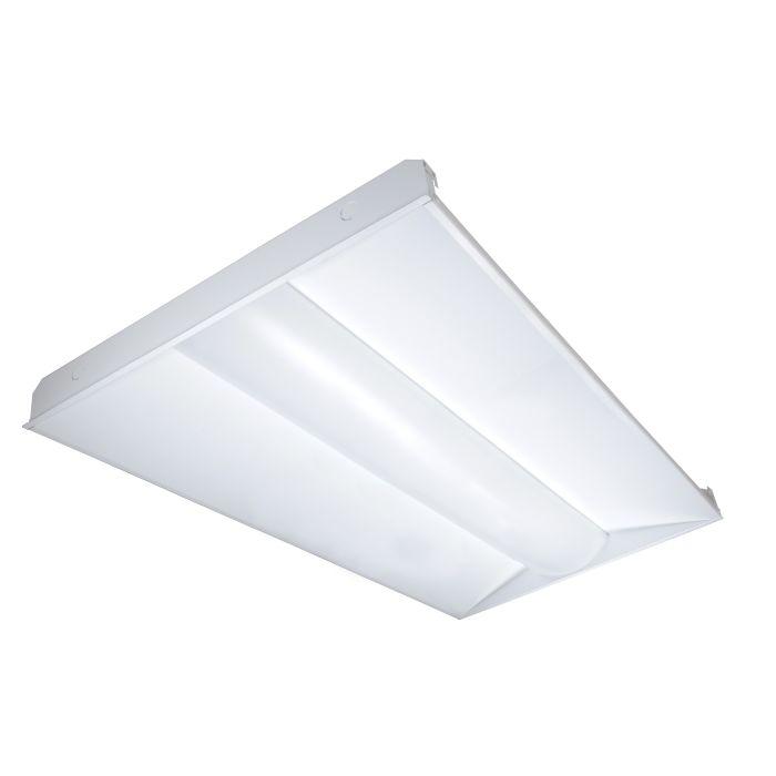 Satco Lighting 65-304 40 Watt 2x4 Foot Linear LED Troffer Fixture 120-277V Dimmable 3500K